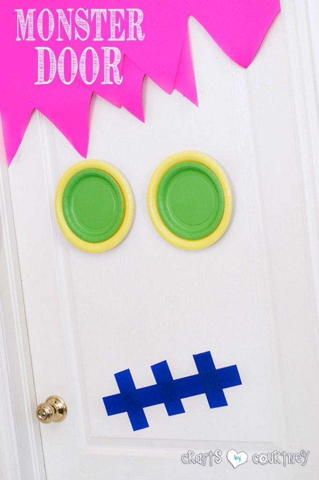 Indoor Halloween Monster Door Idea
