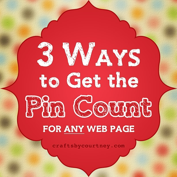 3 ways to get the Pin count of any web page