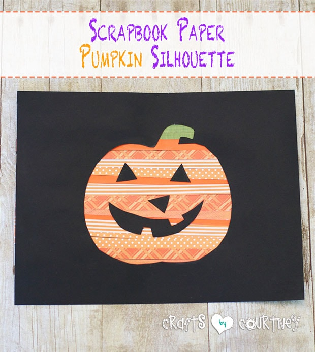 How-to Create Scrapbook Paper Pumpkin Silhouette Kids Art