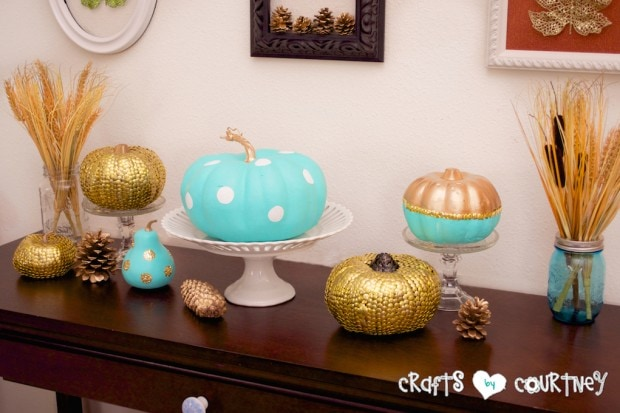 Fall Craft: Painted Fall Pumpkin Craft: Front Room Finishing Touches