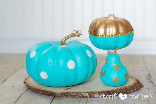 Fall Craft: Painted Fall Pumpkin Craft: Tiffany Inspired Painted Fall Pumpkins