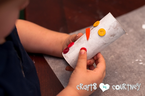 Christmas Craft: Toilet Paper Roll Snowmen: Glue on Your Eyes, Nose and Mouth
