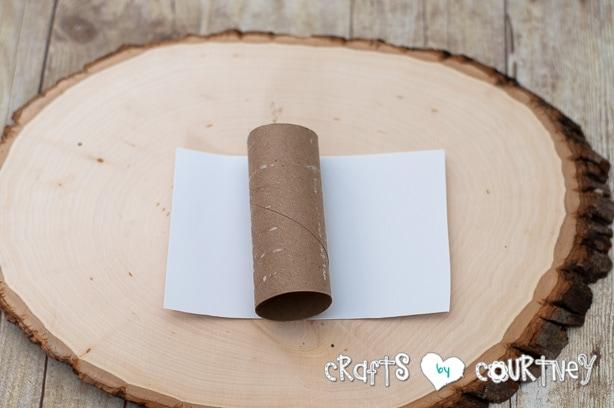 Christmas Craft: Toilet Paper Roll Snowmen: Cut Paper
