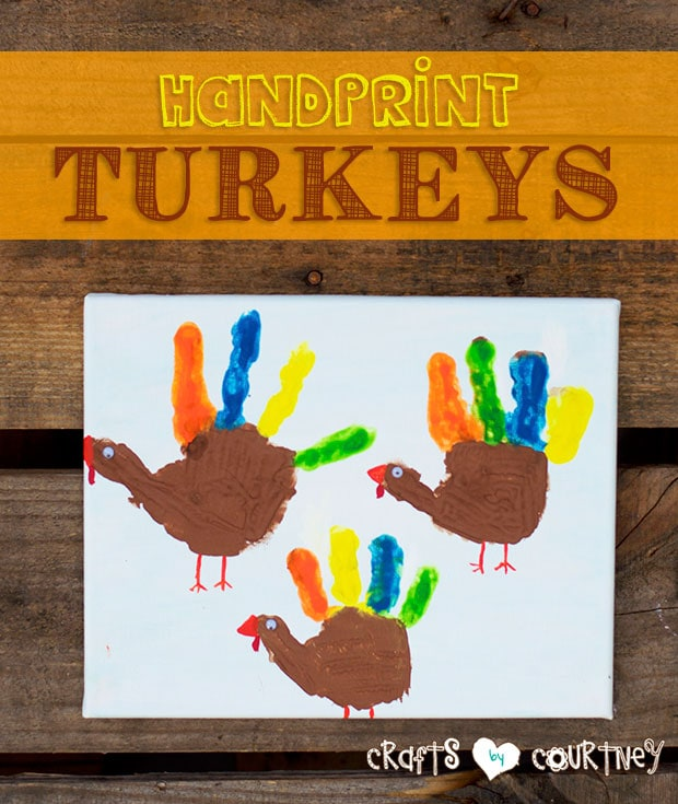 How-to Paint Colorful Handprint Turkeys for Thanksgiving