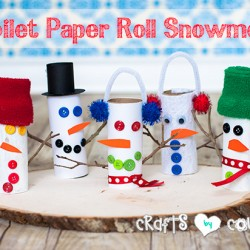 How-to Craft a Toilet Paper Roll Snowman