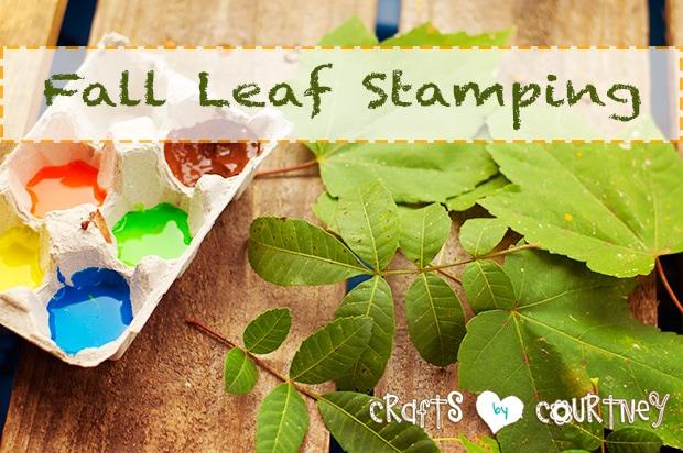 Fall leaf stamping craft