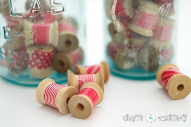 Christmas Inspired Washi Tape Craft Thread Spools