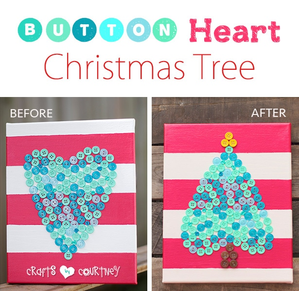 How I Turned My Button Heart Into a Christmas Tree