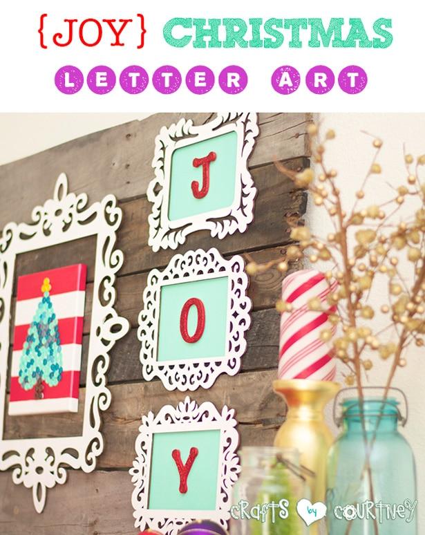 Joy Christmas letter art