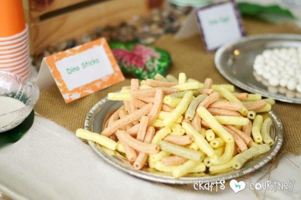 Dinosaur Birthday Party: Veggie Chips