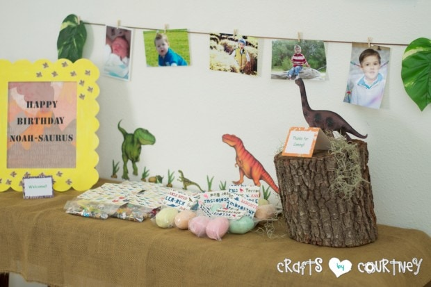 Dinosaur Birthday Party: Party Favor Table