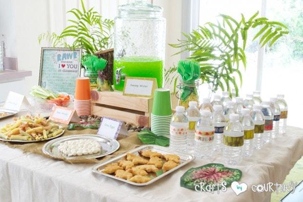 Dinosaur Birthday Party Dino Snack Table