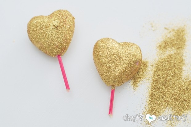 Valentines Heart Trees Add Your Glitter
