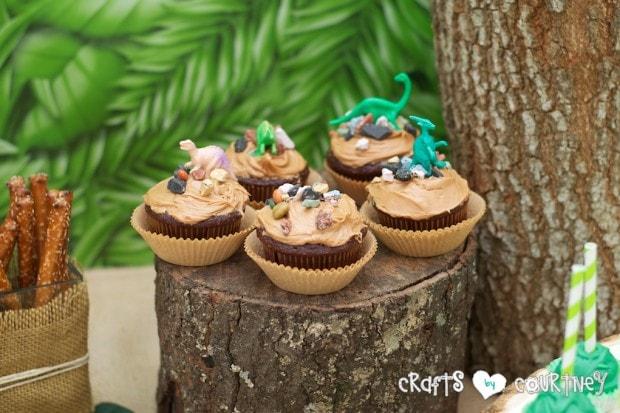Dinosaur Birthday Party Dollar Tree Dinosaur Cupcake Toppers