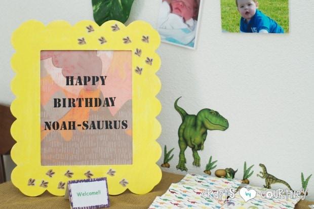 Dinosaur Birthday Party: Birthday Boy-A-Saurus Sign