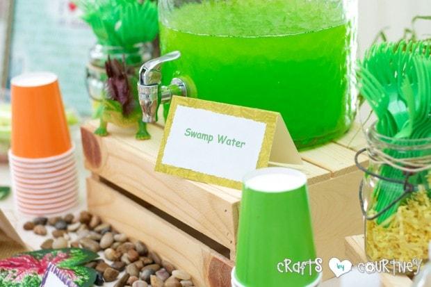 Dinosaur Birthday Party: Swamp Juice