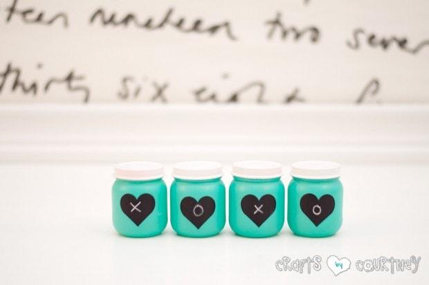 Valentine Storage Jars: Baby Food Jar Craft