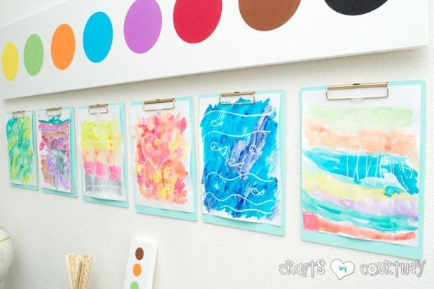 Crayon Resist Watercolor Art for Kids