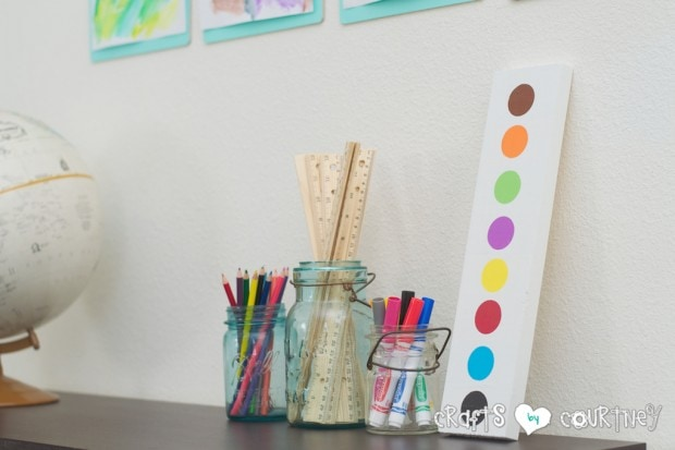 Pottery Barn Knockoff: Jumbo Watercolor Palette for playroom ideas