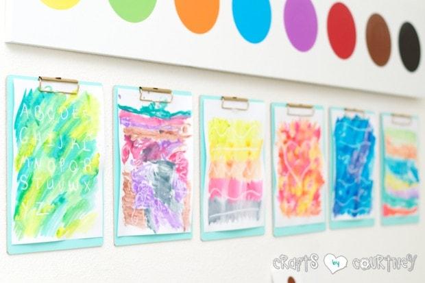 Crayon Resist Watercolor Art for Kids: Watercolor craft