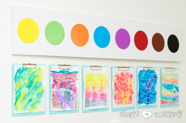 Pottery Barn Knockoff: Jumbo Watercolor Palette for kids art area