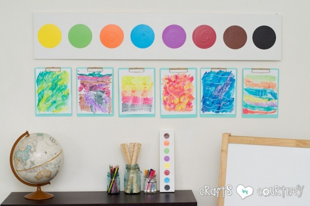 Pottery Barn Knockoff: Jumbo Watercolor Palette for kid art area