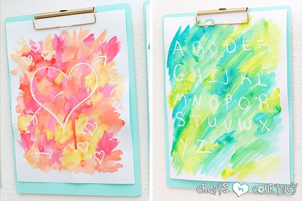 Crayon Resist Watercolor Art for Kids: Create a fun watercolor art with your kids