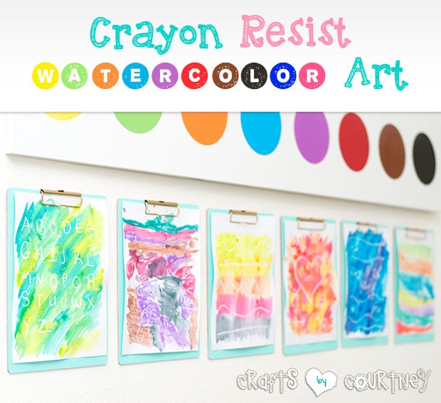 Easy-to Make Spring Inspired Crayon Resist Watercolor Art for Kids