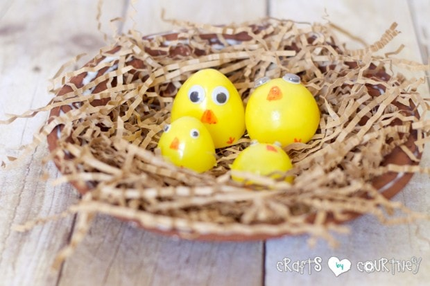 Plastic Easter Egg Chicks for Spring