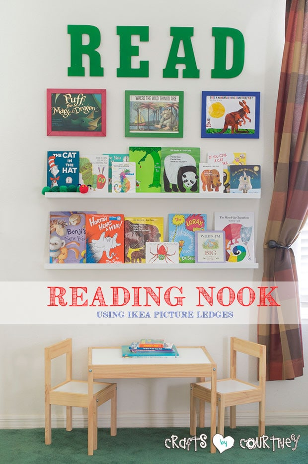 Make a Cute Reading Nook for ANY Kids Playroom