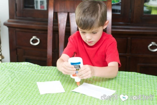Toilet Paper Roll Easter Rabbits: Add Glue to The Back of Your Scrapbook Paper