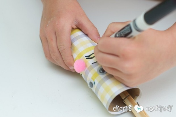 Toilet Paper Roll Easter Rabbits: Draw Your Wiskers