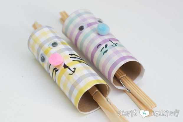 Toilet Paper Roll Easter Rabbits: Draw Your Rabbits Face