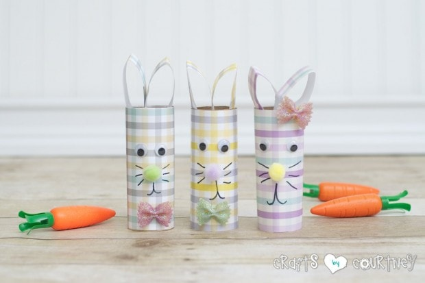 Kids Easter Craft: Toilet Paper Roll Easter Rabbits