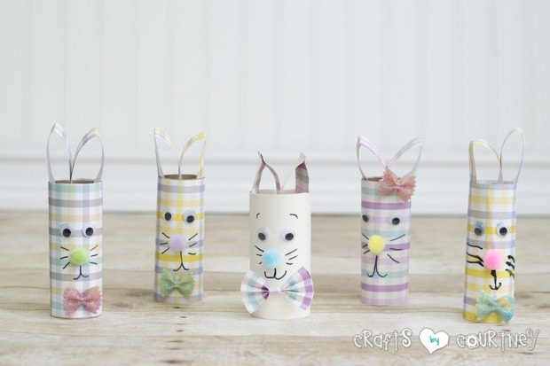 Kids Easter Crafts: Toilet Paper Roll Easter Rabbits
