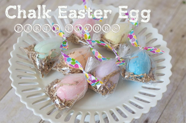 Fun Chalk Easter Egg Party Favors