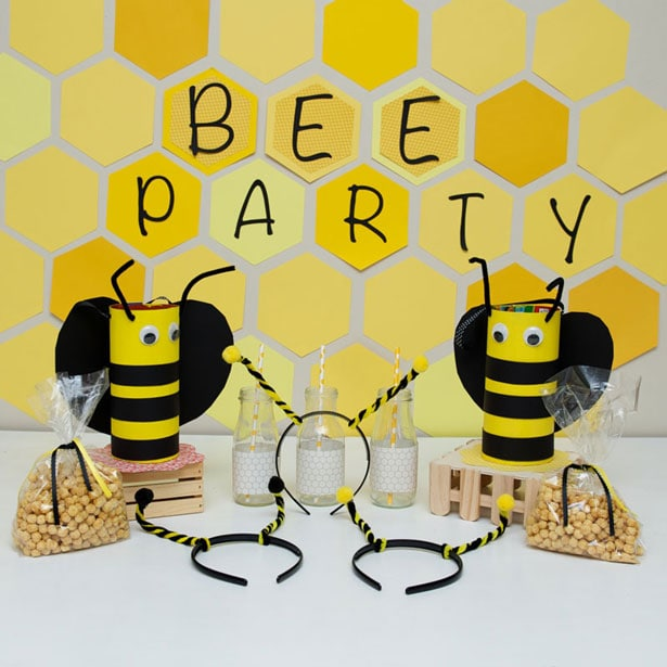 Cute kids bee-themed party and crafts