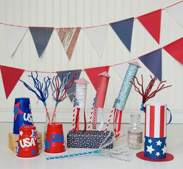 Festive July 4th kids craft party
