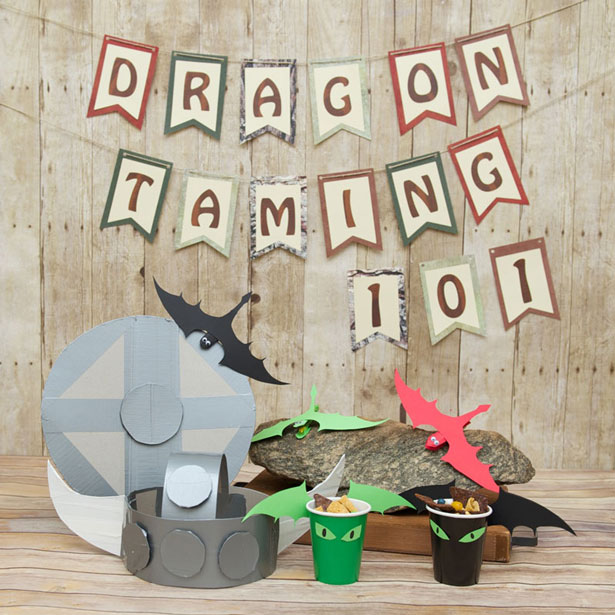 Kids dragon training party and crafts