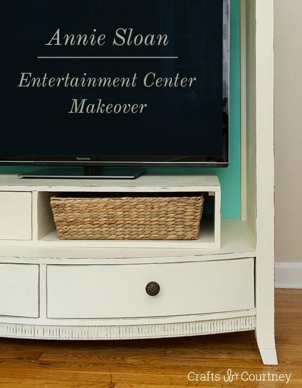 Entertainment Center Makeover Using Annie Sloan Chalk Paint