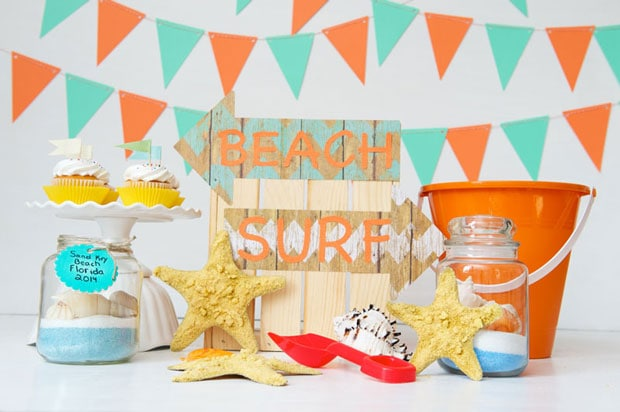 A beach inspired craft party for kids