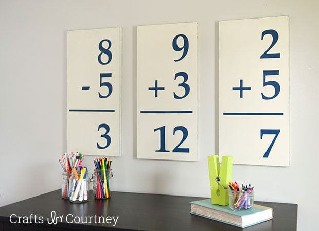 Pottery Barn Knockoff: DIY Giant Flash Cards Pefect for Kids Playroom!!