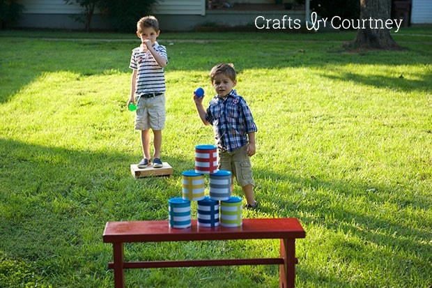 Outside Activity: Fun DIY Can Toss Game for Kids!