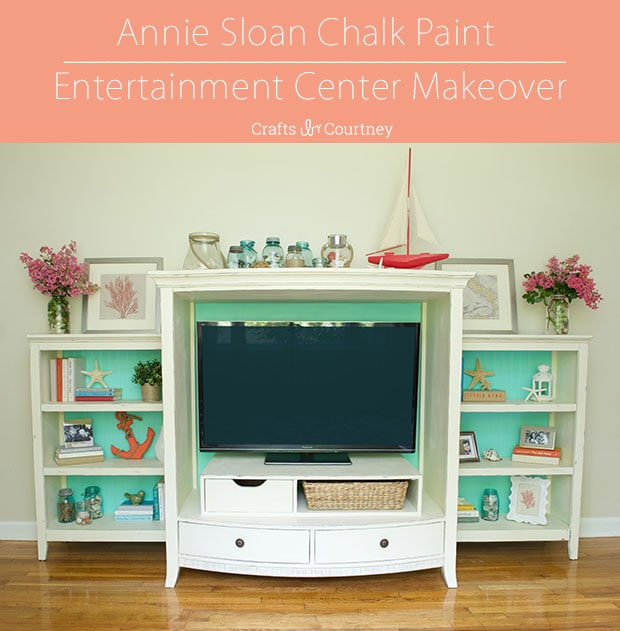 Annie Sloan Chalk Paint Makeover: Complete Entertainment Center Reveal
