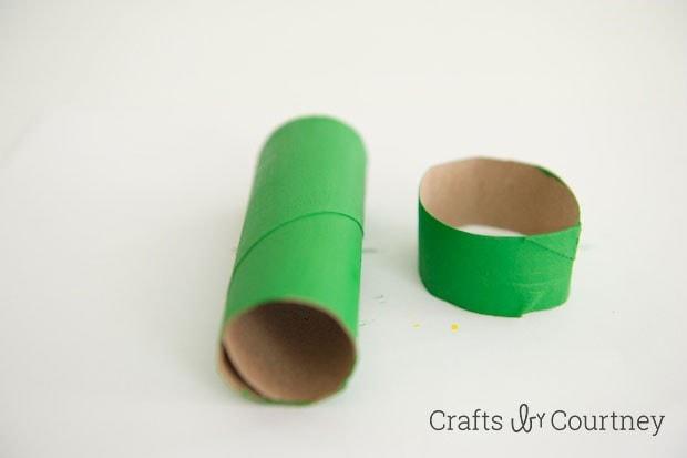 TMNT toilet paper roll finger puppet step 3