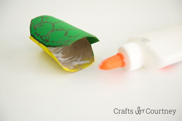 TMNT toilet paper roll finger puppet step 4
