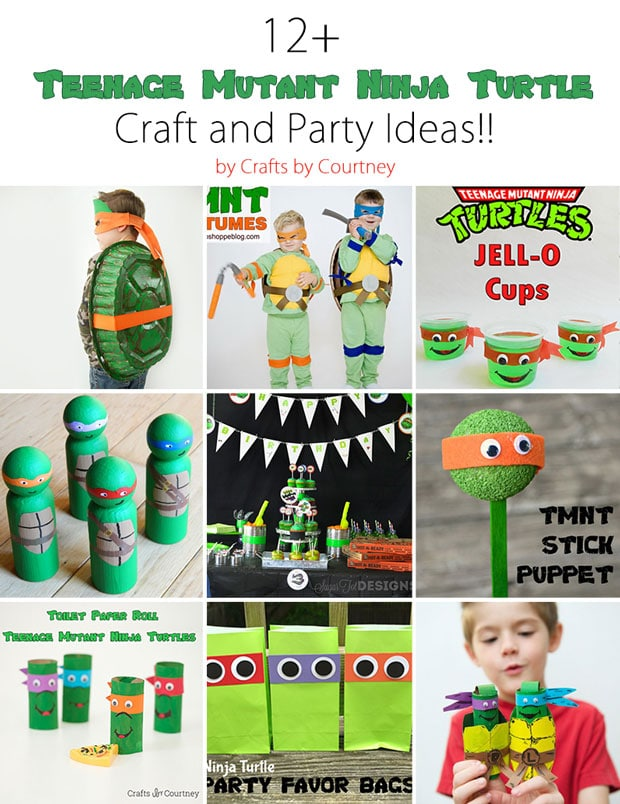 12+ Awesome Ninja Turtle Kids Crafts and Party Ideas!