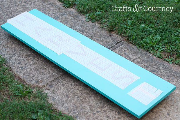 Giant DIY Harvest Sign: Getting Coastal with Fall