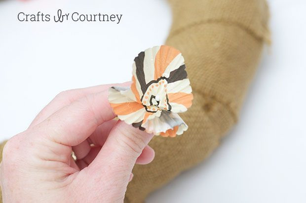 Easy Halloween Cupcake Wrapper Wreath
