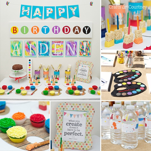 Easy DIY Kids Art Themed Birthday Party